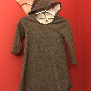Grey tunic/dress sweatshirt with goldfleck sz 5/6